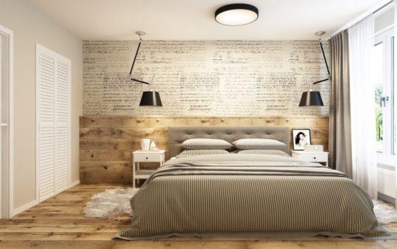 sypialnia w krakowskim mieszkaniu zaprojektowana przez projektant wnetrz z APP Proste Wnetrze